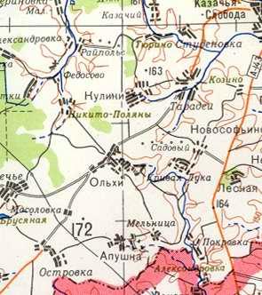 Большая карта шацкого района